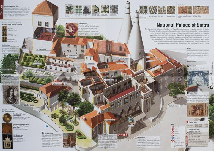 National Palace of Sintra - Visit map - learn more on RoadTripsaroundtheWorld.com
