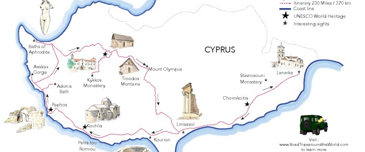 A Road Trip in Cyprus – Free printable map