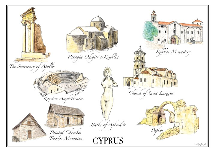 A Road Trip in Cyprus - Free printable map - Road Trips