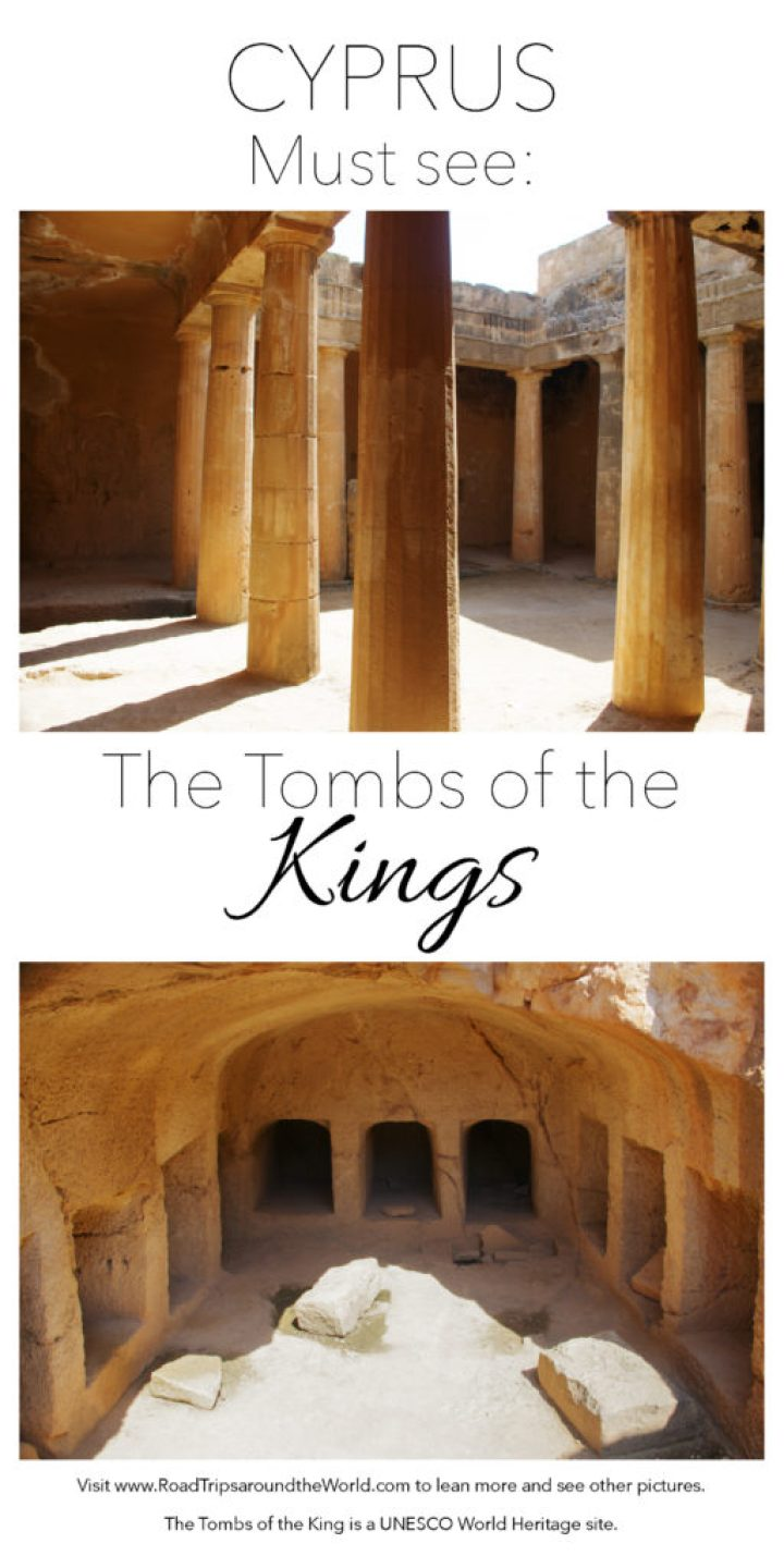 The Tombs of the Kings in the Paphos Archaeological Park, Cyprus - A UNESCO World Heritage site - Learn more on www.RoadTripsaroundtheWorld.com