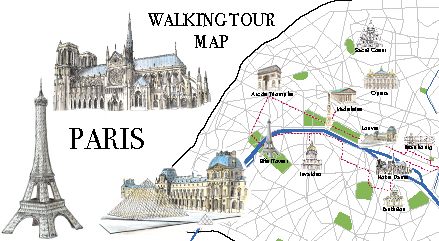 Paris Walking Tour Map: a free printable map and more