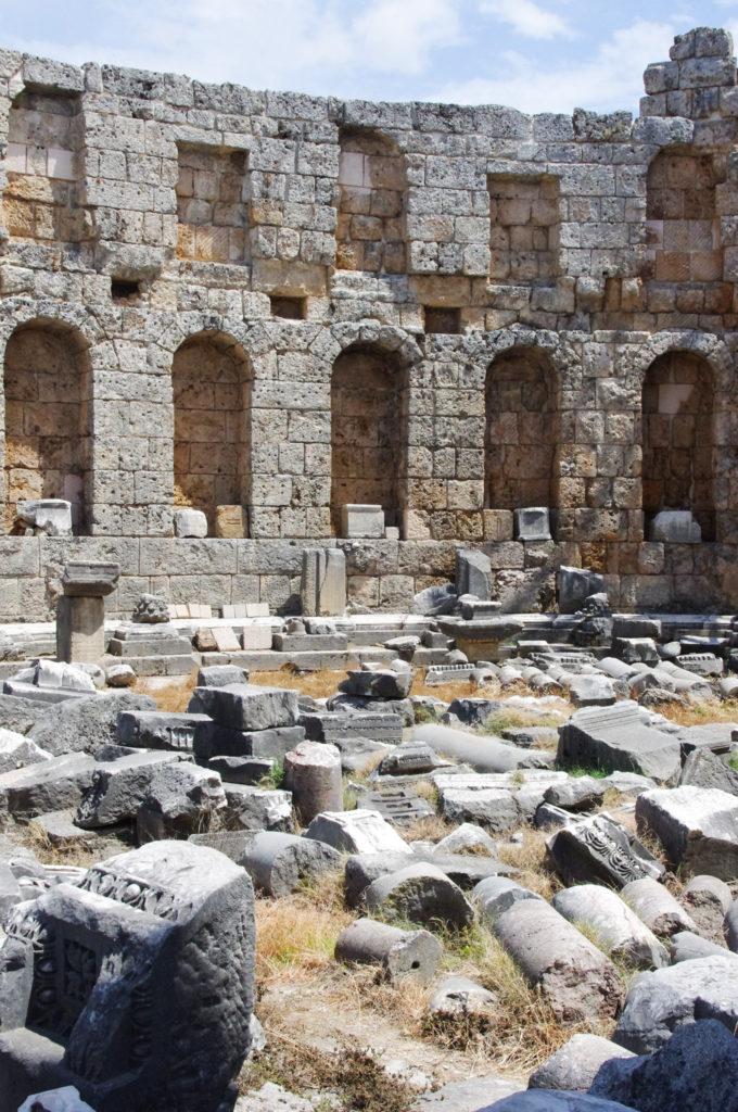 The Hellenistic city gate in Perge, Turkey - www.RoadTripsaroundtheWorld.com