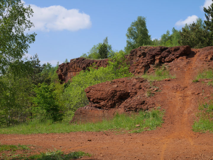 Hiking spot in Luxembourg: The Red Rocks - visit www.RoadTripsaroundtheWorld.com to find out more