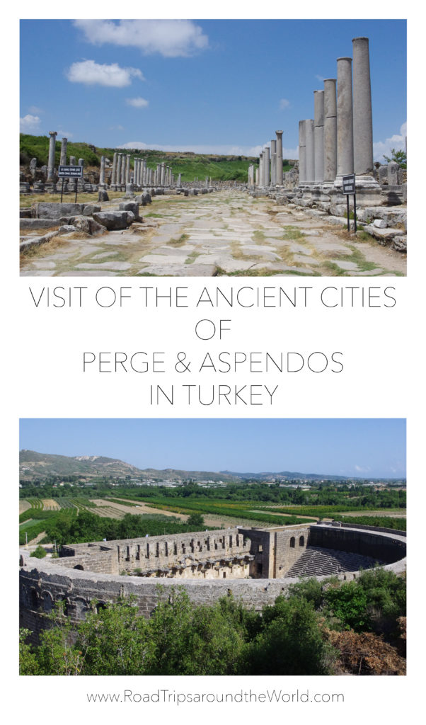 Visit of tha ancient cities of Perge and Aspendos in Turkey - www.RoadTripsaroundtheWorld.com