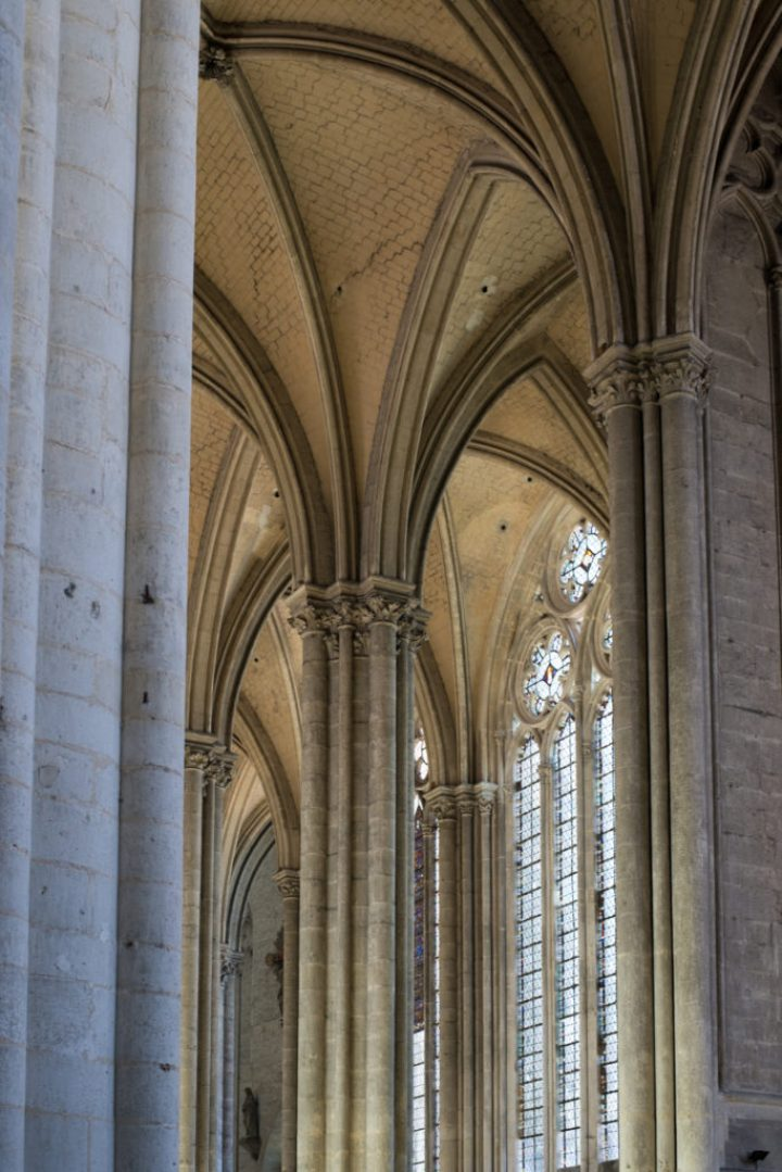Detail of ceiling - Amiens Cathedral, France - www.RoadTripsaroundtheWorld.com