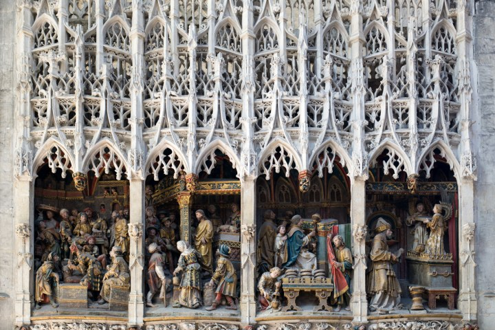 Low relief of the Choir Screen - North Ambulatory - Amiens Cathedral, France - www.RoadTripsaroundtheWorld.com