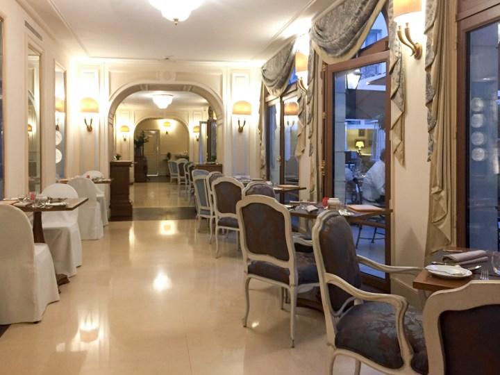 Part of the breakfast room - Auberge du Jeu de Paume, Chantilly, France - www.RoadtripsaroundtheWorld.com