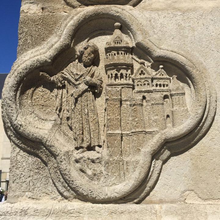 Quatrefoil medallion - facade of the Amiens Cathedral, France - www.RoadTripsaroundtheWorld.com