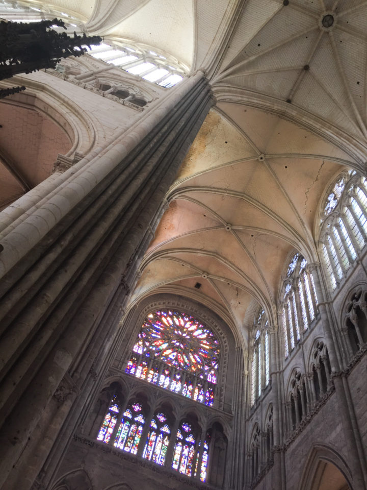 South transept rose window and triforium - Amiens Cathedral, France - www.RoadTripsaroundtheWorld.com