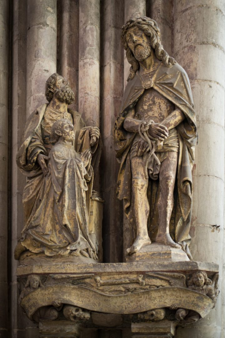 Suffering Christ - 17th century - South Aisle - Amiens Cathedral, France - www.RoadTripsaroundtheWorld.com