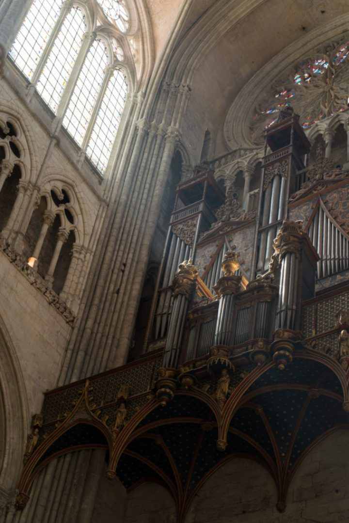 The choir organ - 16th century - Amiens Cathedral, France - www.RoadTripsaroundtheWorld.com