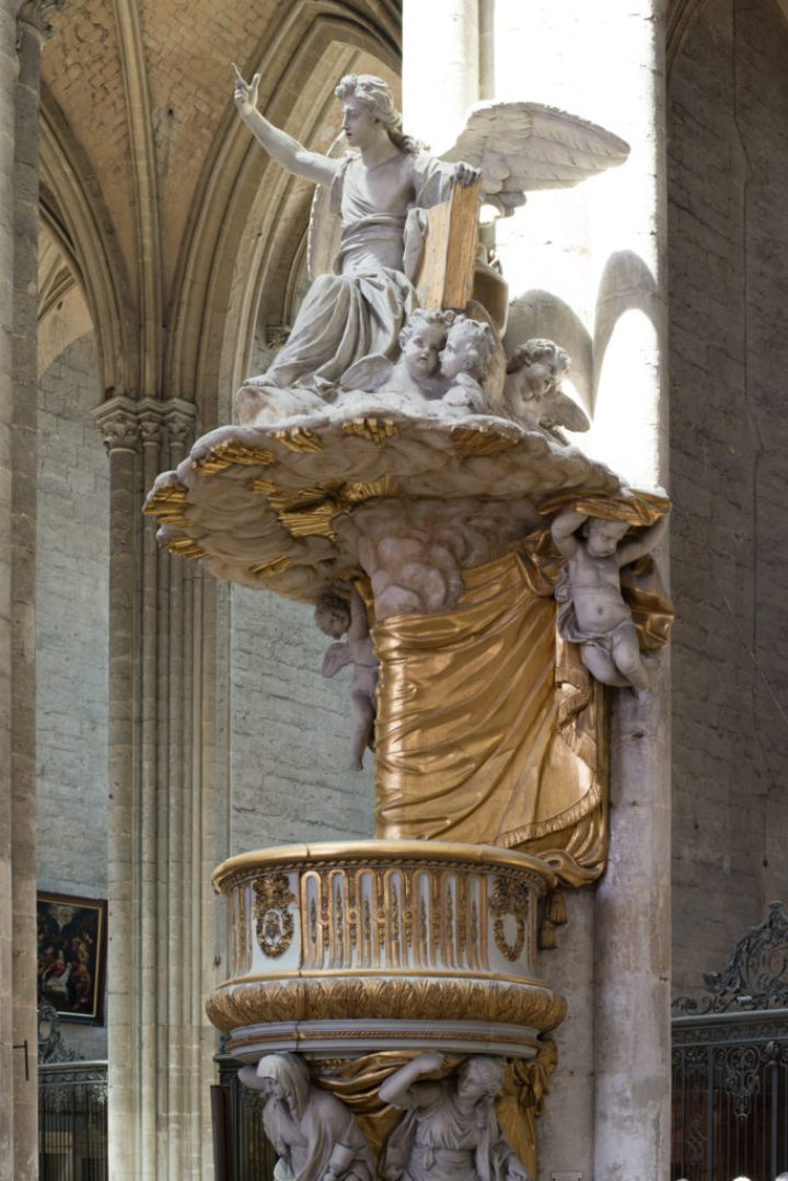 The pulpit - 1773 - Amiens Cathedral, France - www.RoadTripsaroundtheWorld.com