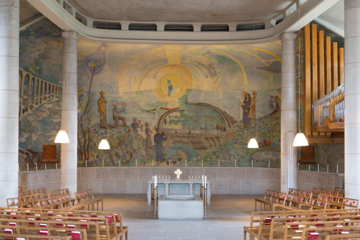 The Chapel of the Holy Cross by Gunnar Asplund - Woodland Crematorium - Skogskyrkogården - the Woodland Cemetery in Stockholm - www.RoadTripsaroundtheWorld.com