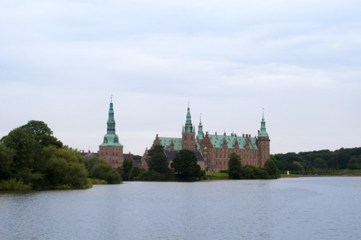 Frederiksborg castle near the par force hunting landscape in Denmark - UNESCO World Heritage Site - on RTatW