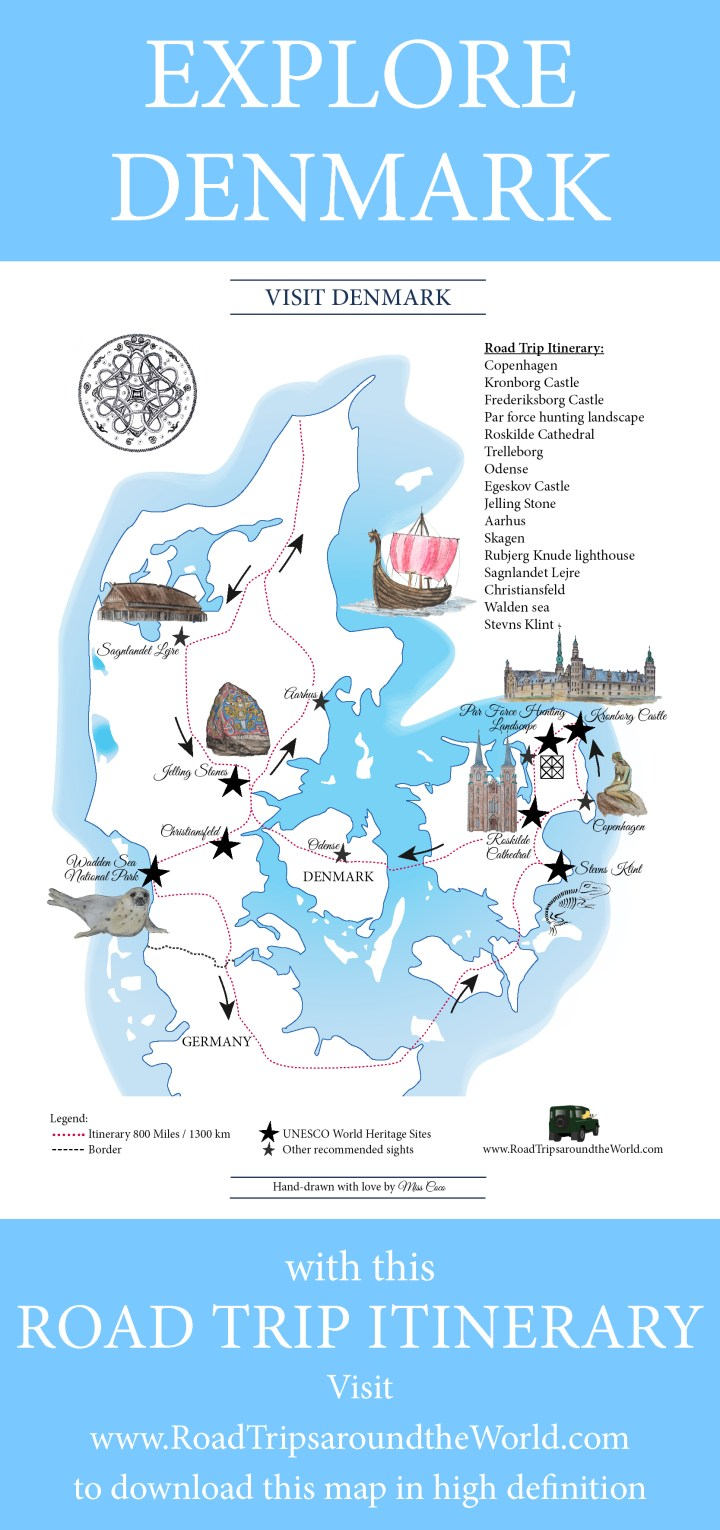 A Road Trip In Denmark Free Printable Map Available On Rtatw