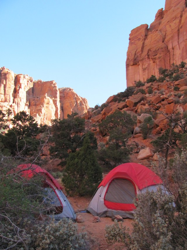 Backpacking Capitol Reef: Camping in Chimney Rock Canyon in Capitol Reef National Park