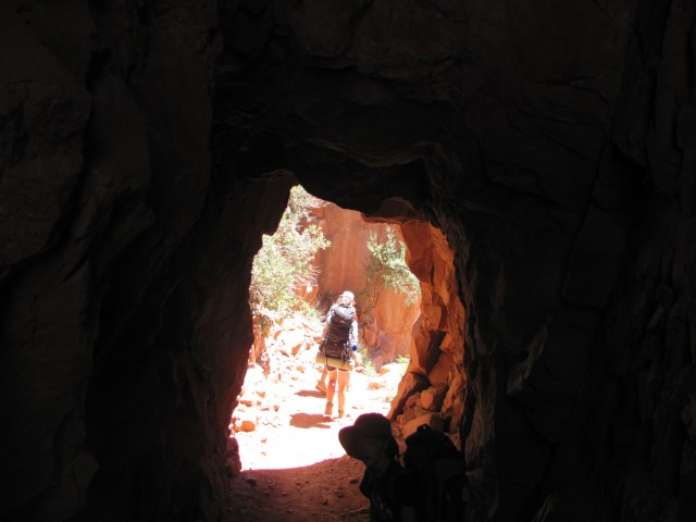 Grand Canyon Rim to Rim- Supai Tunnel on the North Kaibab Trail in Grand Canyon National Park
