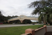 The only golf cart bridge over a highway in the world