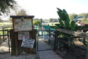 Entrance gate to the dog park
