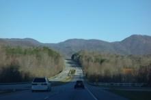 Mountainous terrain towards Asheville