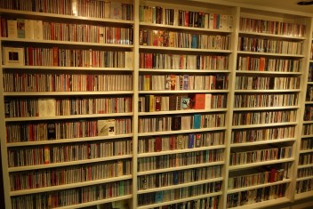 Hundreds of CDs owned by Steve and Alison
