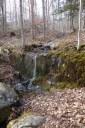 Teeny waterfall along the path