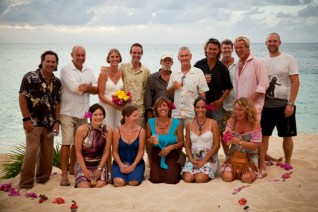 Cruising friends attending our wedding party in St. Martin