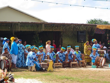 Local band during the heiva in the Gambier Islands