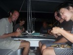 Happy hour on SV Gudrun with great friends