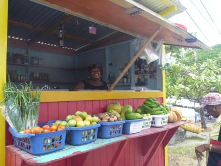 Vegetable market in the Caribbean