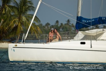 On Irie in one of our favorite island chains, Kuna Yala in Panama