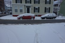 Severe snowstorm in Newburyport, in April!