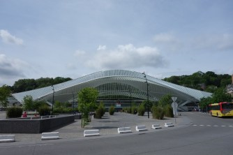Front view of the station