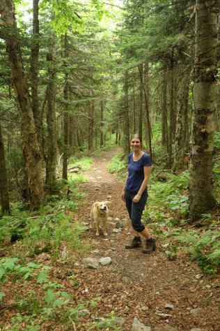 """The walk back down, called """"Black Swamp Trail' was more gradual and easier"""