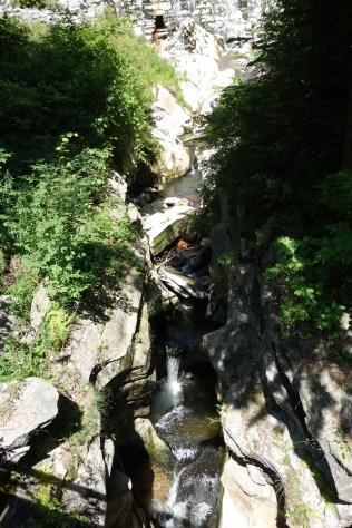 The river runs deep down the gorge