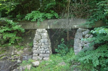 The water was transported from the dam to the mill via a cement-covered pipe