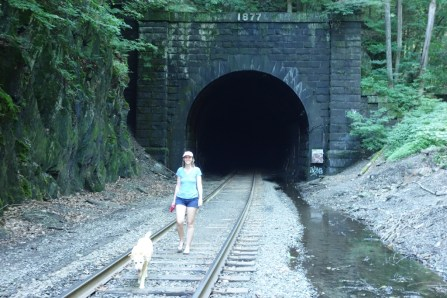 Quick visit to the air-spewing East Portal of the spooky Hoosac Tunnel