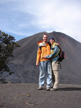 Mark and I in front of Volcan Pacaya