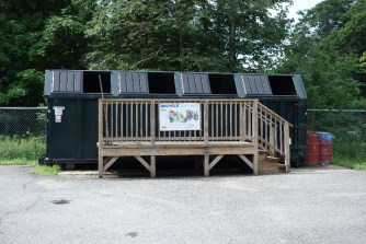 """Everything gets recycled in Heath. We compost partway up the hill on """"our own"""" property."""