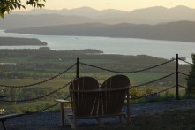 Adirondack chairs in front of the Adirondack mountains in NY :-)