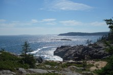 Maine's famous coastline is present in the park as well