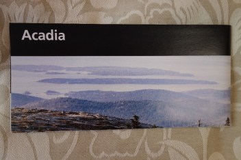 Acadia NP map, handed out after you pay the entrance fee: $25 per car for a week