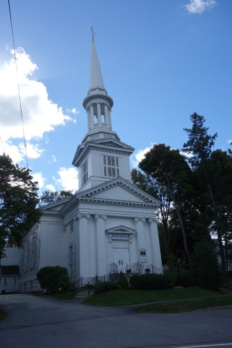 One of the many churches in town