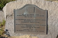 Plaque to indicate the site of the first United States transatlantic wireless telegraph station