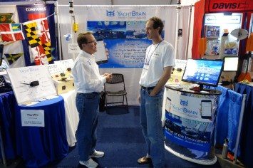 Allen and Mark at the YachtBrain booth