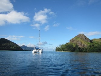 Anchored in the Gambier Islands