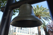 Ship's bell along the waterfront