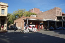 Old Sacramento contains many brick buildings