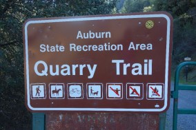 Walking the popular Quarry Trail, along the river