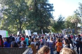 Anti-Trump demonstration in Midtown, yesterday